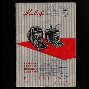 Linhof Preisliste Nr. 20 1956_German Language