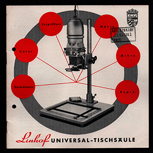 Linhof Universal-Tischsaule 1963_German Language