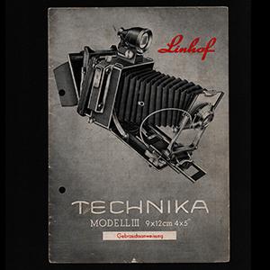 Linhof Technika III 4x5 Gebrauchsanweisung Instructions_German Langauge