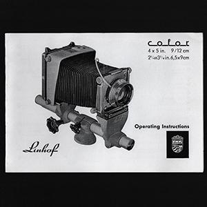 Linhof Kardan Color 4x5 Operating Instructions Manual 1961_English Language
