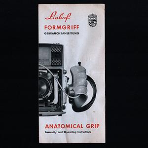 Linhof Anatomical Grip FormGriff Instruction Manual 1963 English & German Langauge