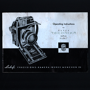 Linhof Technika IV 6x9 Instruction Operating Manual 1957 English Language