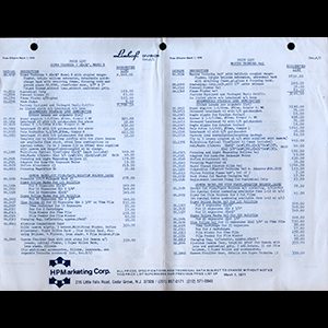 Linhof 1978 Price List USA English Language