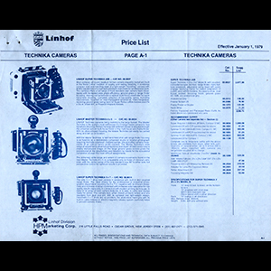 Linhof 1979 Price List USA English Language