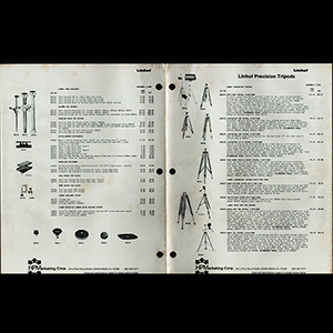 Linhof 1985 Precision Tripods Specification Catalog USA English Language