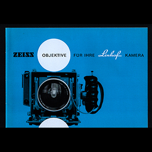 Zeiss Objecktive fure ihre Linhof Kamera 1966 German Language