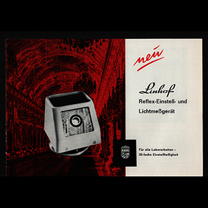 Linhof Reflex Einstell 1966 German Language