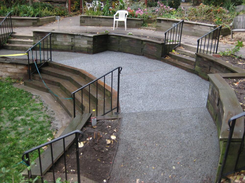 Pervious Concrete allows water to pass right thru it!