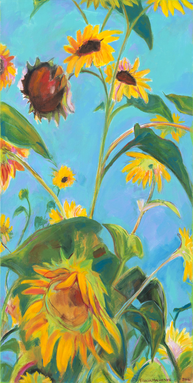 Community Garden Sunflowers