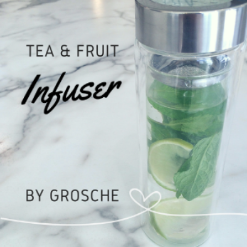 Lime + Mint in a Grosche Tea Infuser