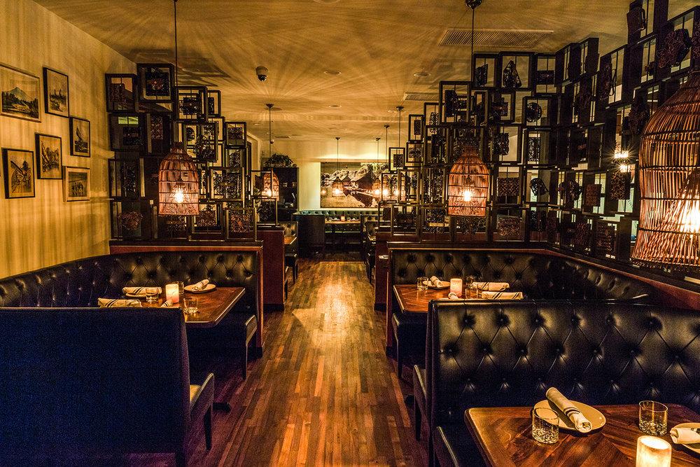 ABOVE: Hutchinson Cocktails & Grill Interior Photo