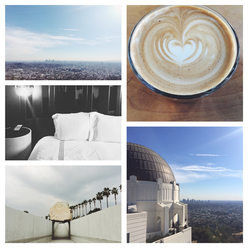 My last trip of 2014, was to LA. We stayed in the beautiful HotelSixty, had tons of lattes, checked out the LACMA Hollywood Costume Exhibit, saw the city from on high at the Griffith Observatory, and spent plenty of time eating and shopping in Silverlake, Echo Park, and Melrose! FUN!