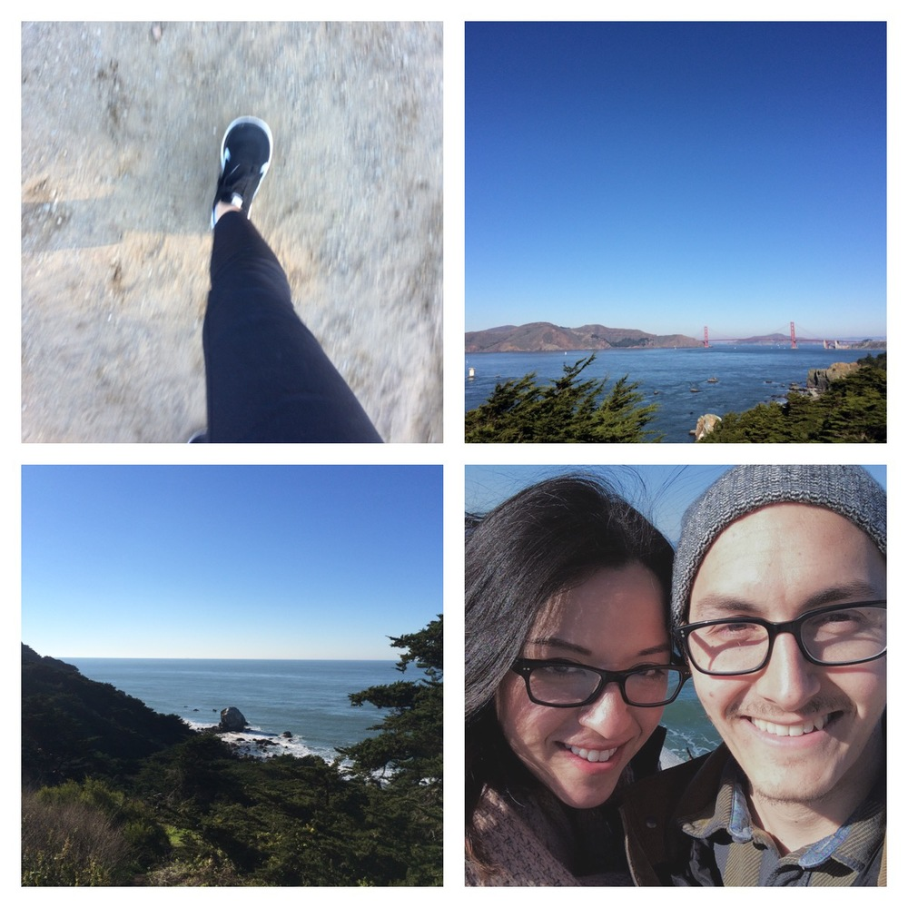 We went on a great hike at Lands End in San Francisco, on New Year's Day. This was the second year in a row. Officially a New Years Tradition (sorta).