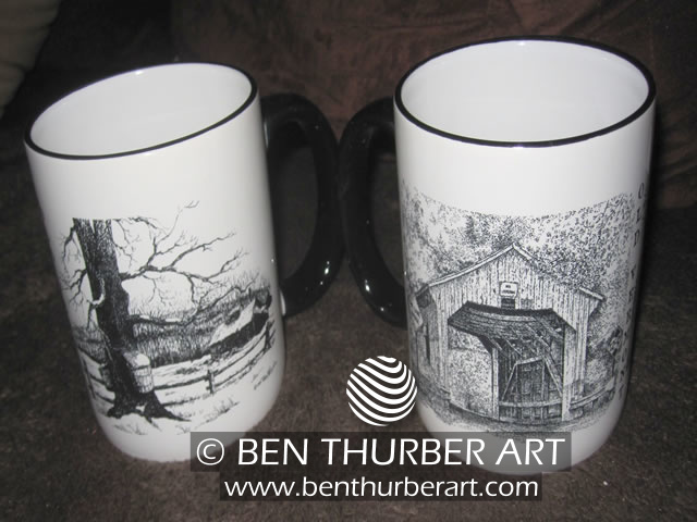Sugaring & Covered Bridge Mugs