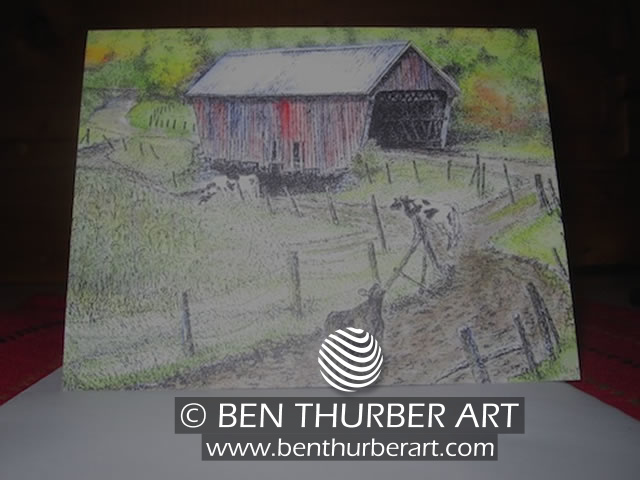 Covered Bridge Notecard