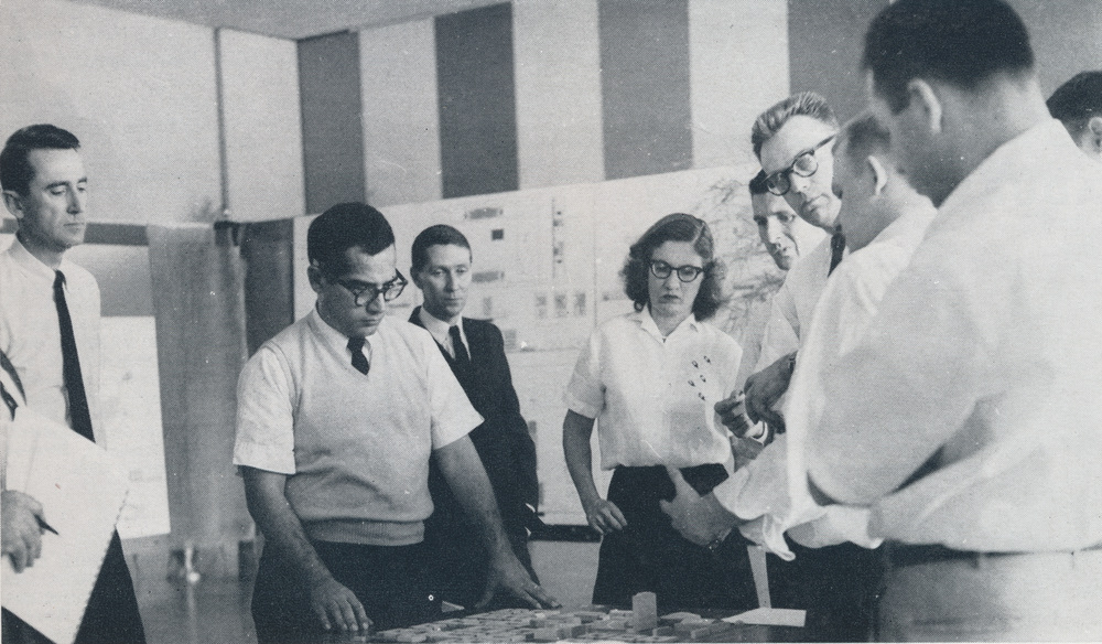 From the 1960 Jambalaya, year book of Tulane University and Newcomb College, here showing the Tulane School of Architecture.