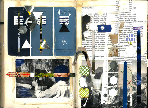 Pages in Nikki Esser's sketchbook