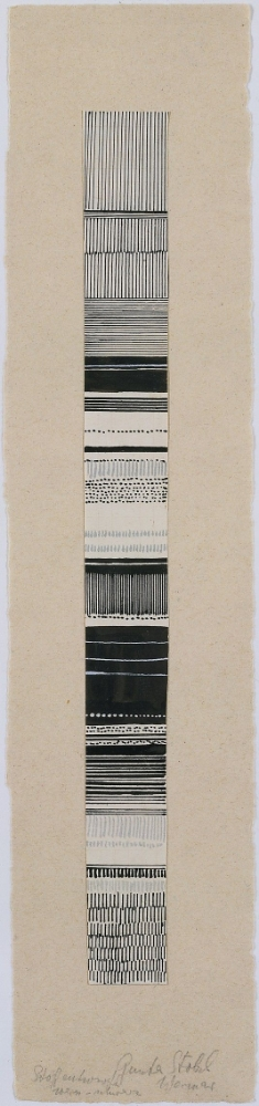 Gunta Stölzl, Textile Design Study, from the Bauhaus Archive,Watercolor and ink design,1919–1925