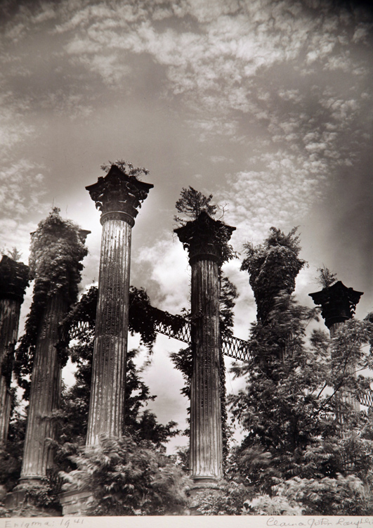 "This photograph is printed large, 40"" x 50"" (ballpark if I had to guess). The movement of the trees,  captured by a long exposure, result in an intensely emotional image. We know the Civil War ended in 1865; by 1941 nature was reclaiming this ruin."
