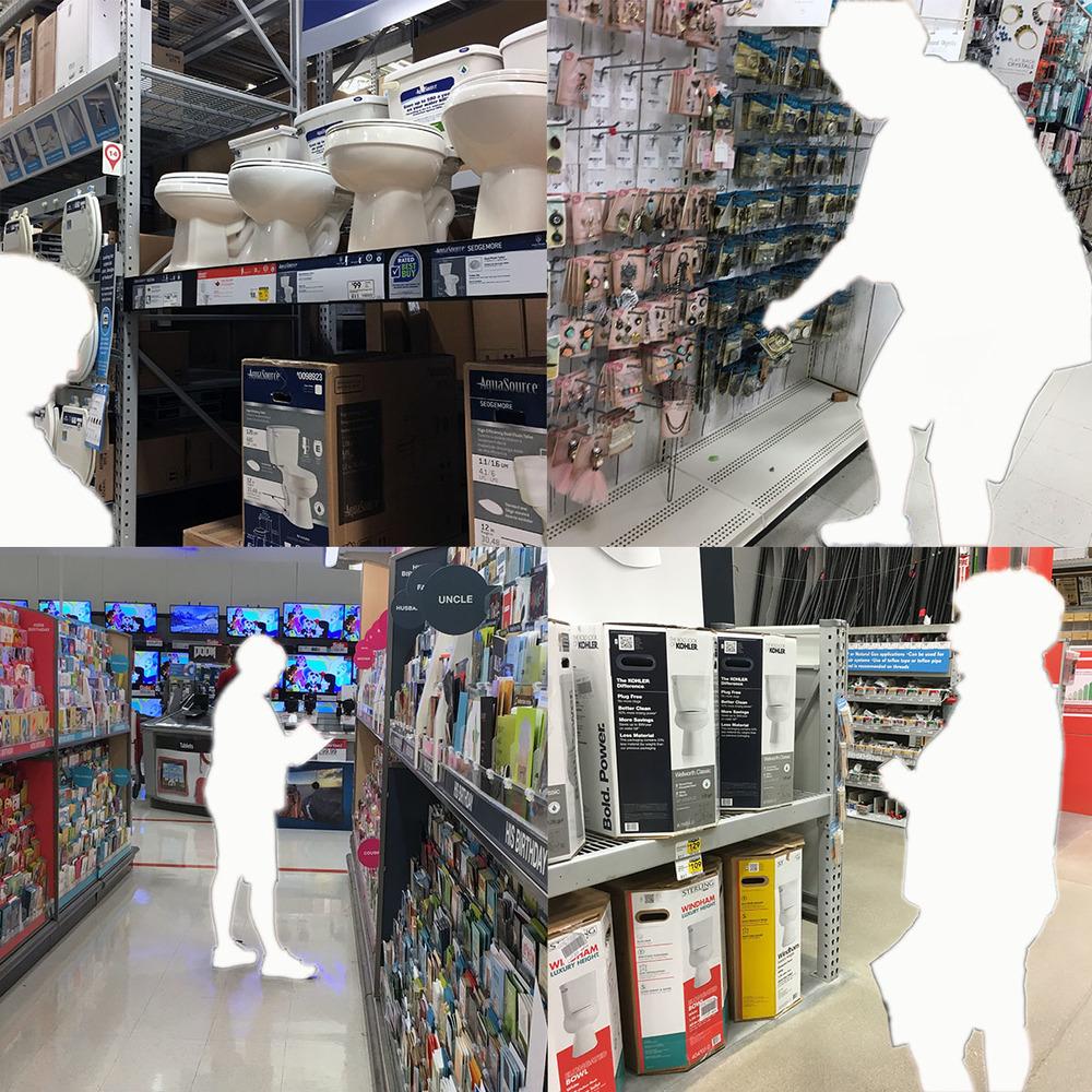 Home Depot, Michaels, Target.
