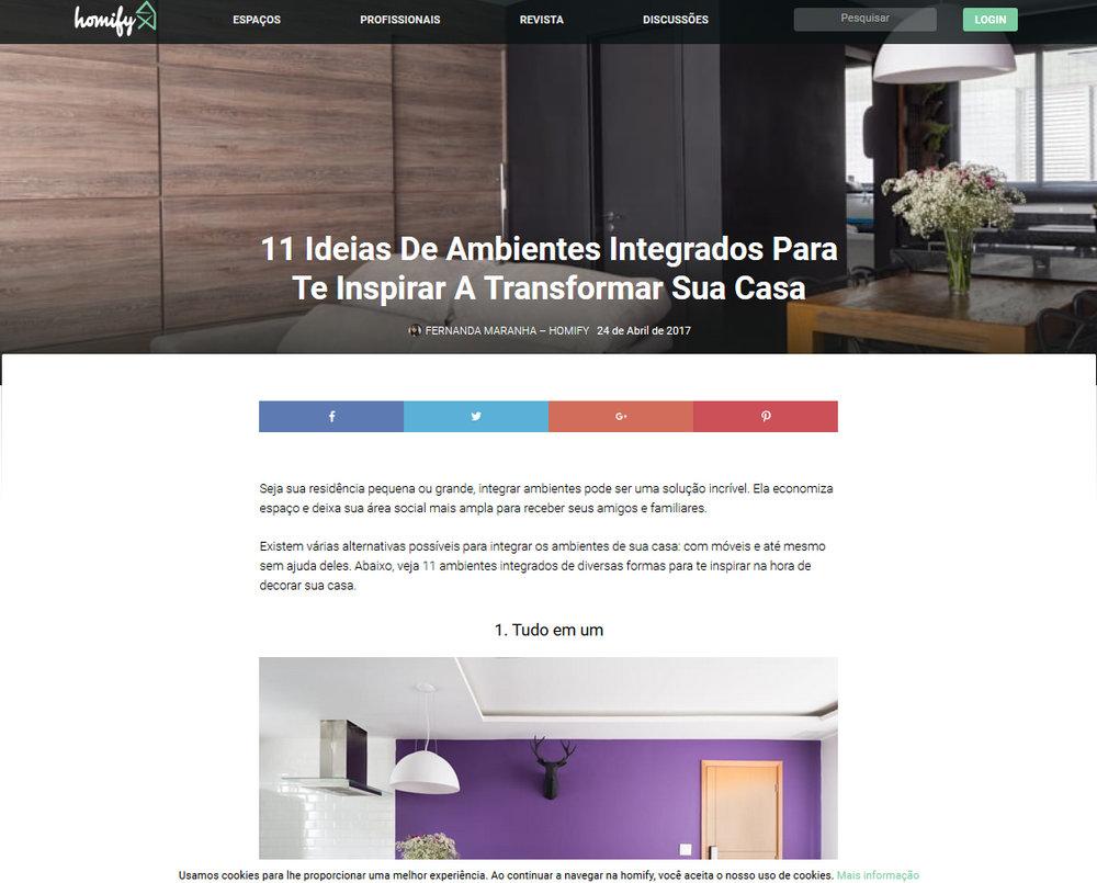 11 ideias de ambientes integrados
