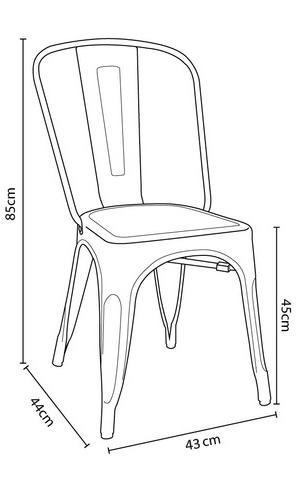 Especificação de altura x largura x profunidade