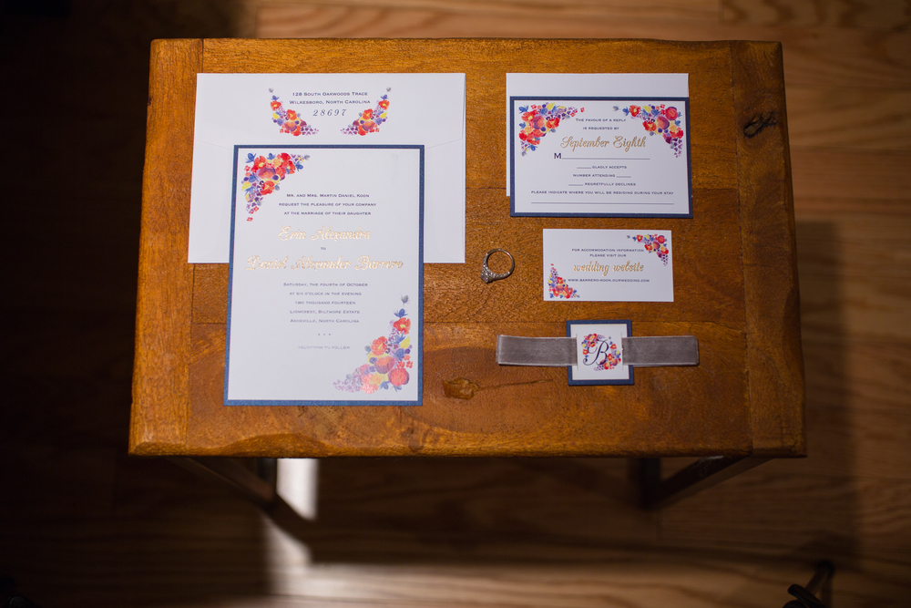 Erin & Danny's Custom Wedding Invitation Suite