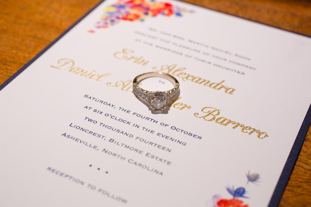 Erin & Danny's Custom Wedding Invitation