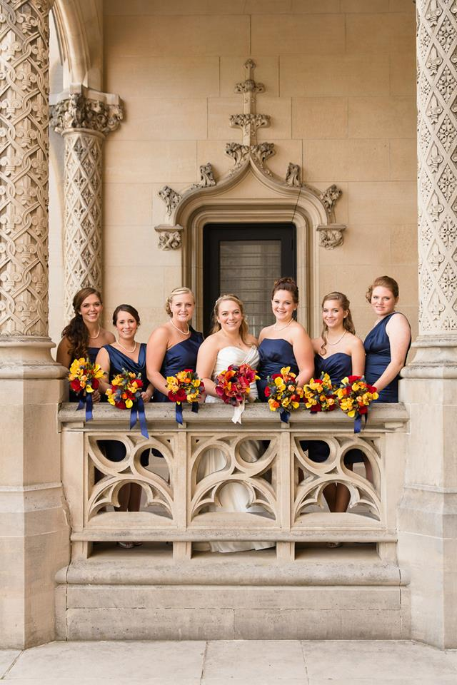 Bridesmaids at Erin & Danny's Biltmore Estate Wedding