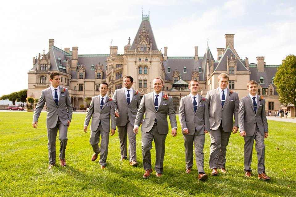 Groomsmen at Erin & Danny's Biltmore Estate Wedding