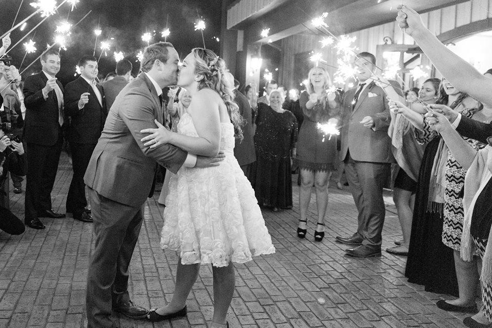 Sparklers at Erin & Danny's Biltmore Estate Wedding