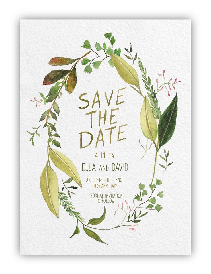 Organic Save-the-Date designed by Alfie Design