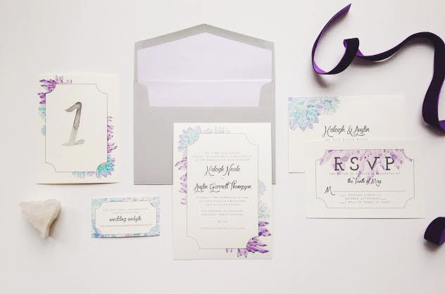 Sable and Gray - Custom Wedding Invitation Suite