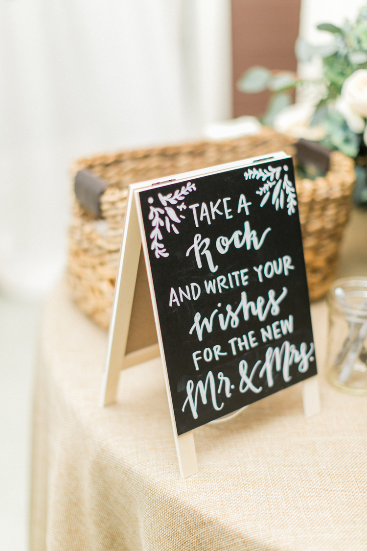 Sable and Gray Chalkboard Sign - Guest Book