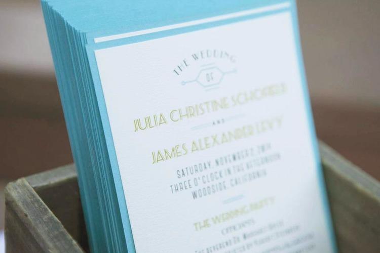 Sable and Gray Custom Wedding Programs
