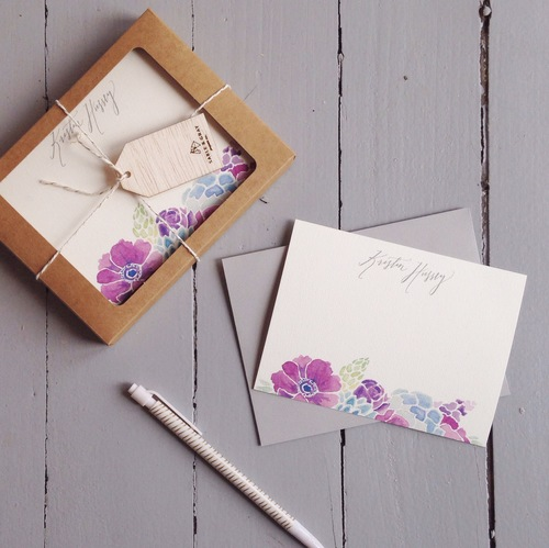 Sable and Gray Custom Stationery