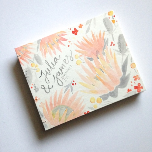 Sable and Gray Custom Guest Book