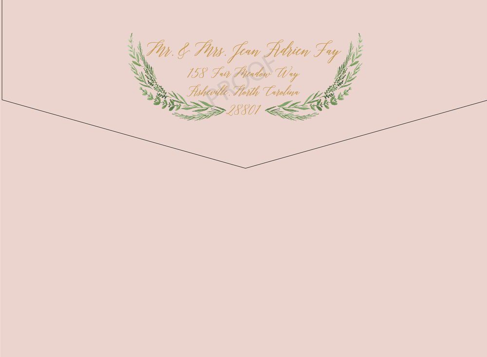 Envelope - Back