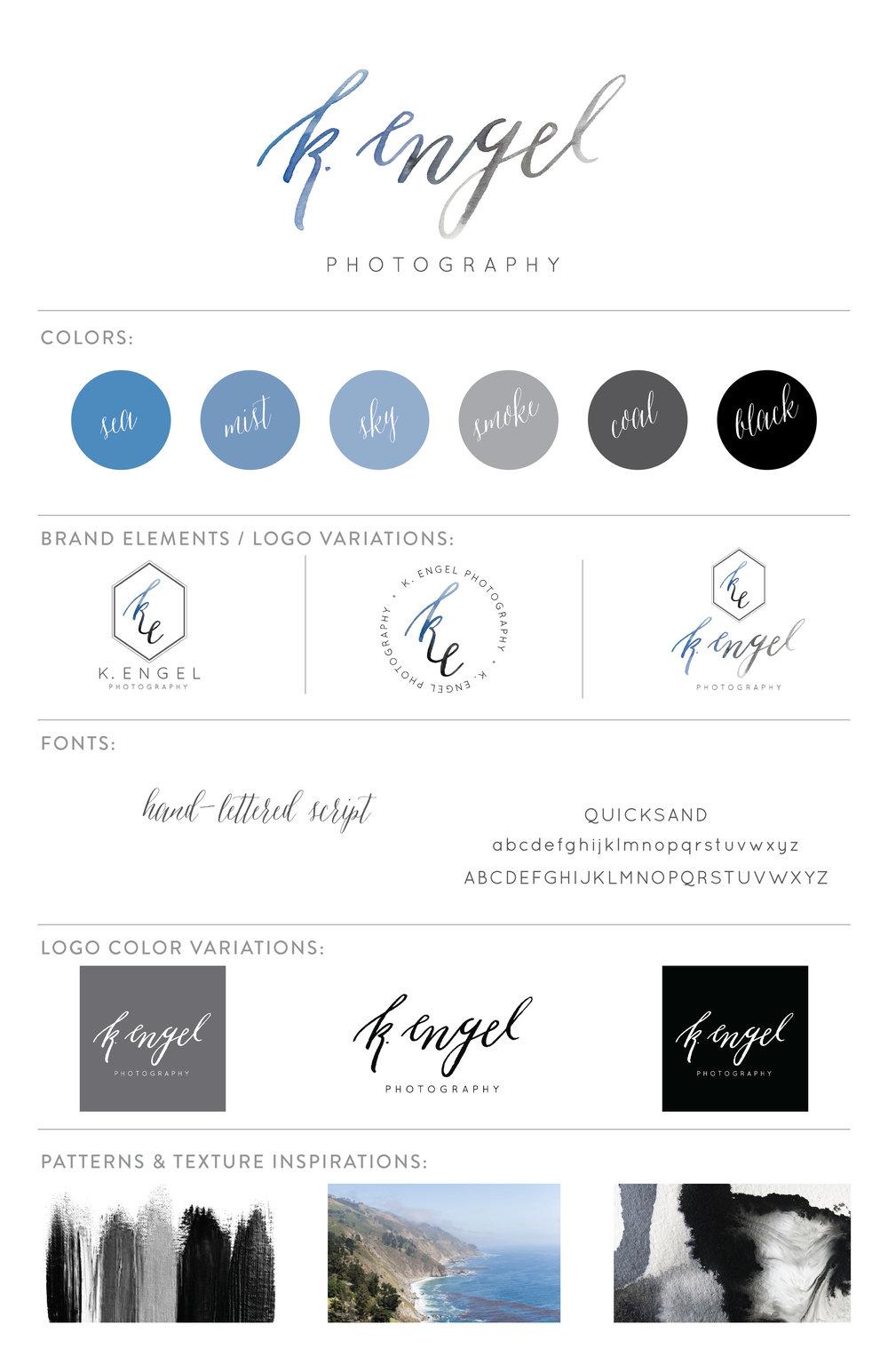 Sable and Gray - K. Engel branding board