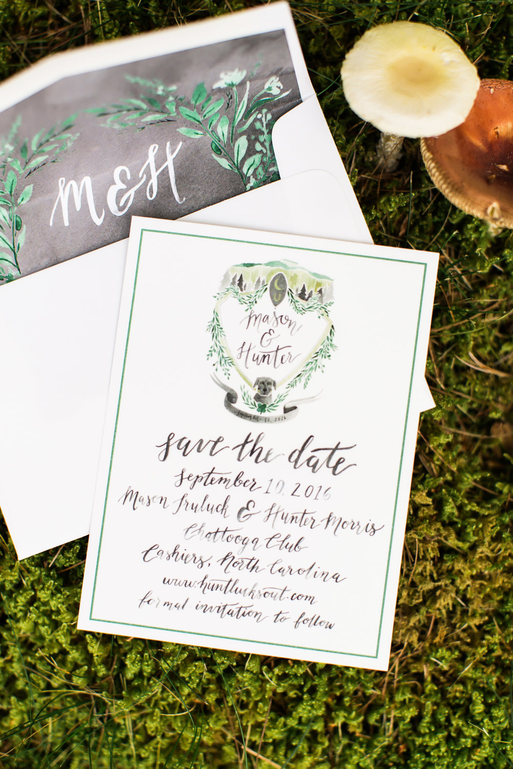 Sable and Gray Custom Save-the-Date