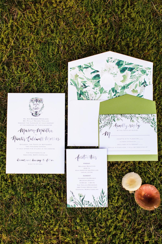 Sable and Gray - Custom Wedding Invitation suite