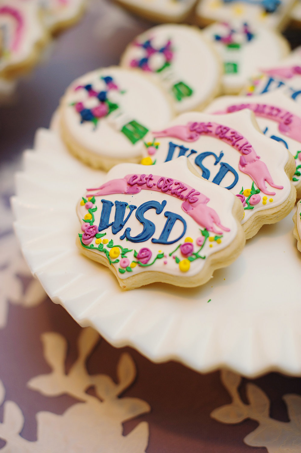 Custom Wedding Crest Sugar Cookies by Sable and Gray