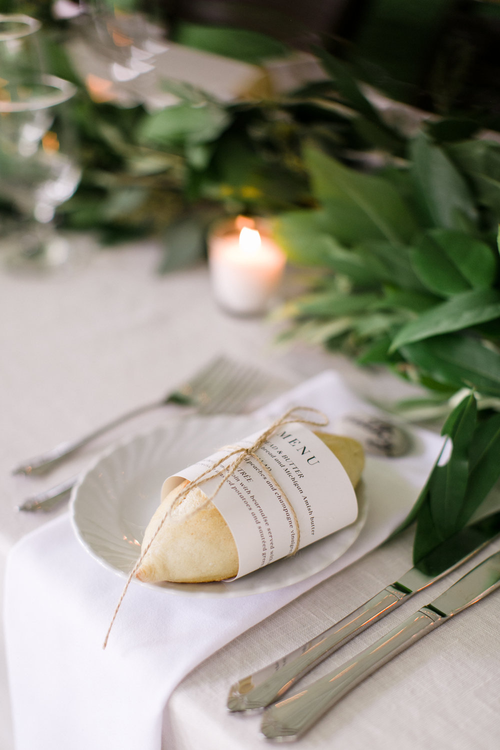 Custom Wedding Menus by Sable and Gray