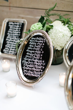 Custom Chalkboard Escort Board by Sable & Gray