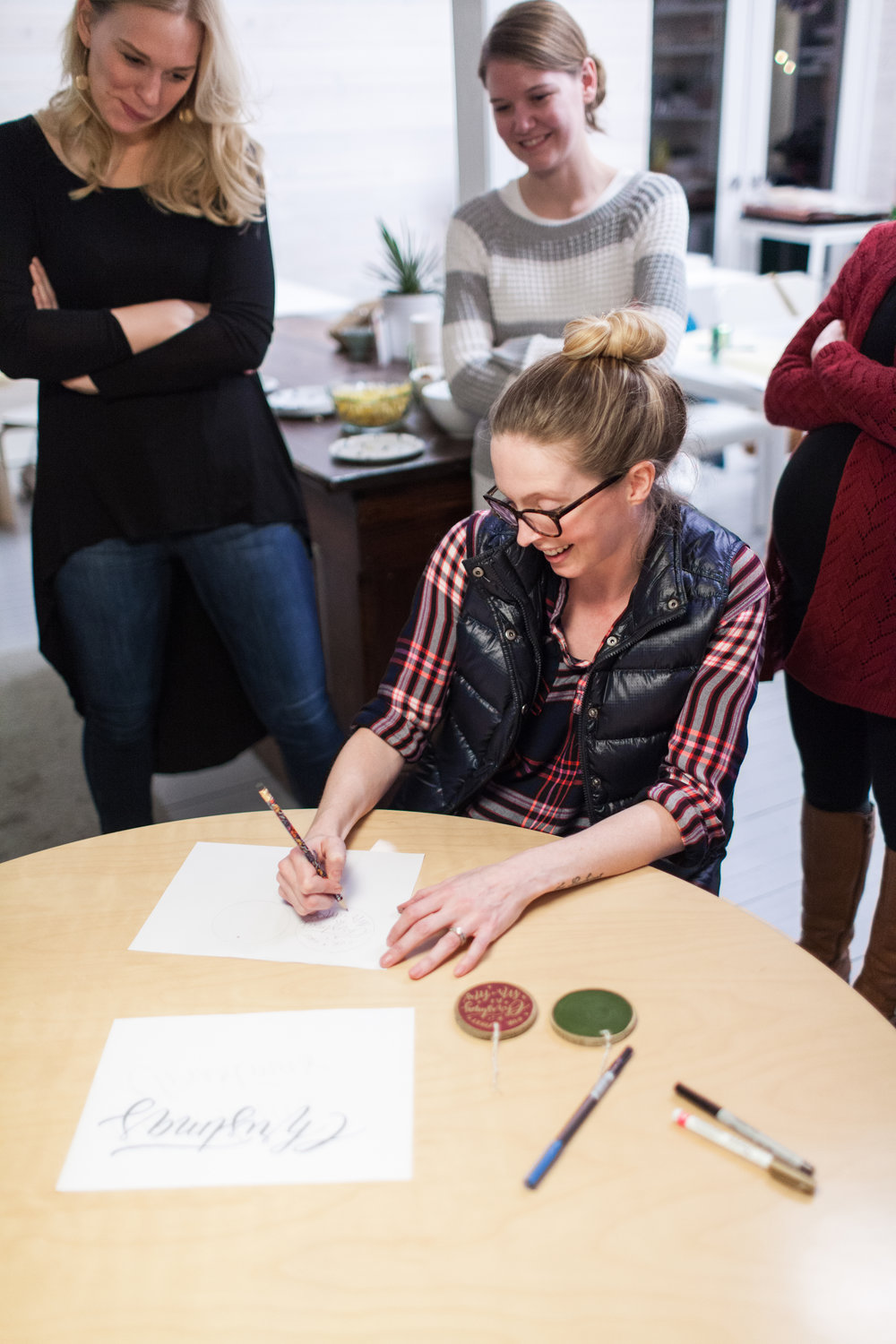 Hand Lettering Workshop by Sable and Gray - Wren Photography