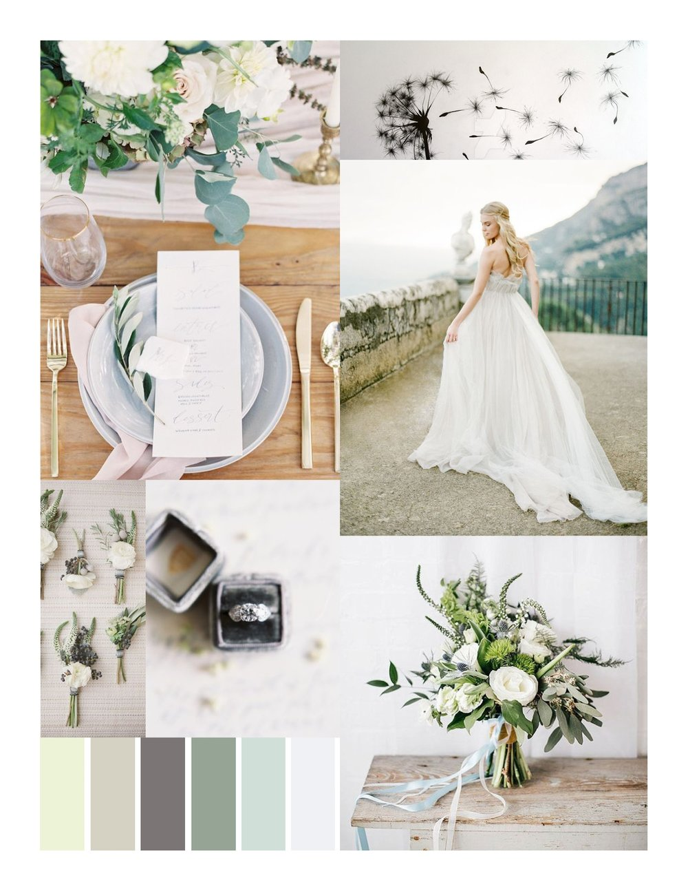 Orchestrated Grace Mood Board by Sable and Gray