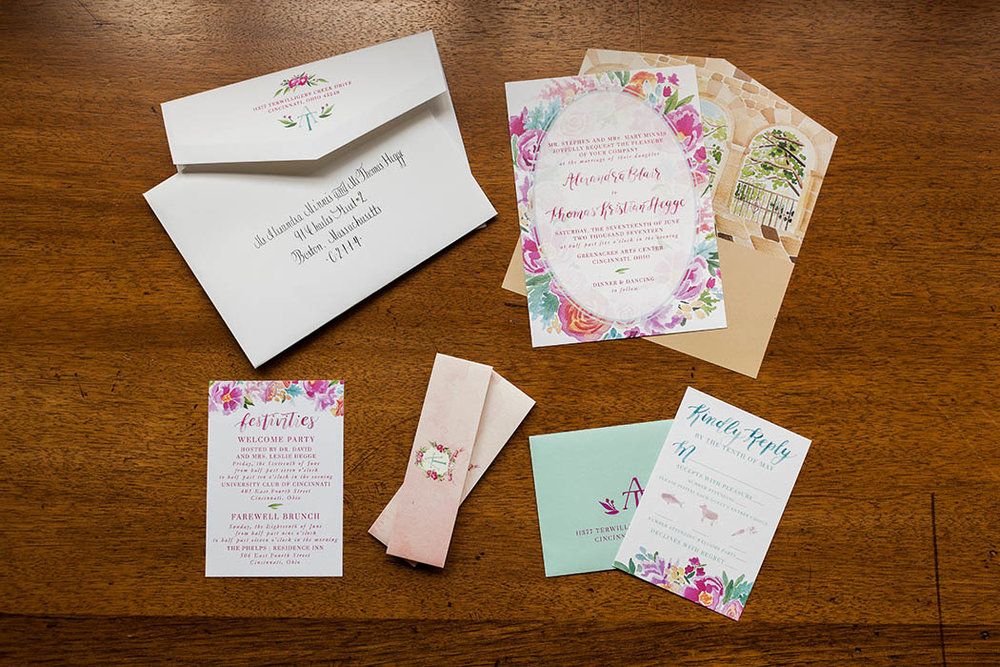 Custom Wedding Invitation by Sable and Gray