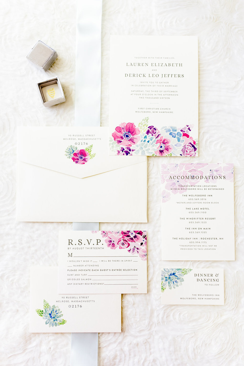 Coastal Floral Suite — Sable & Gray Paper Co.   Custom Stationery ...