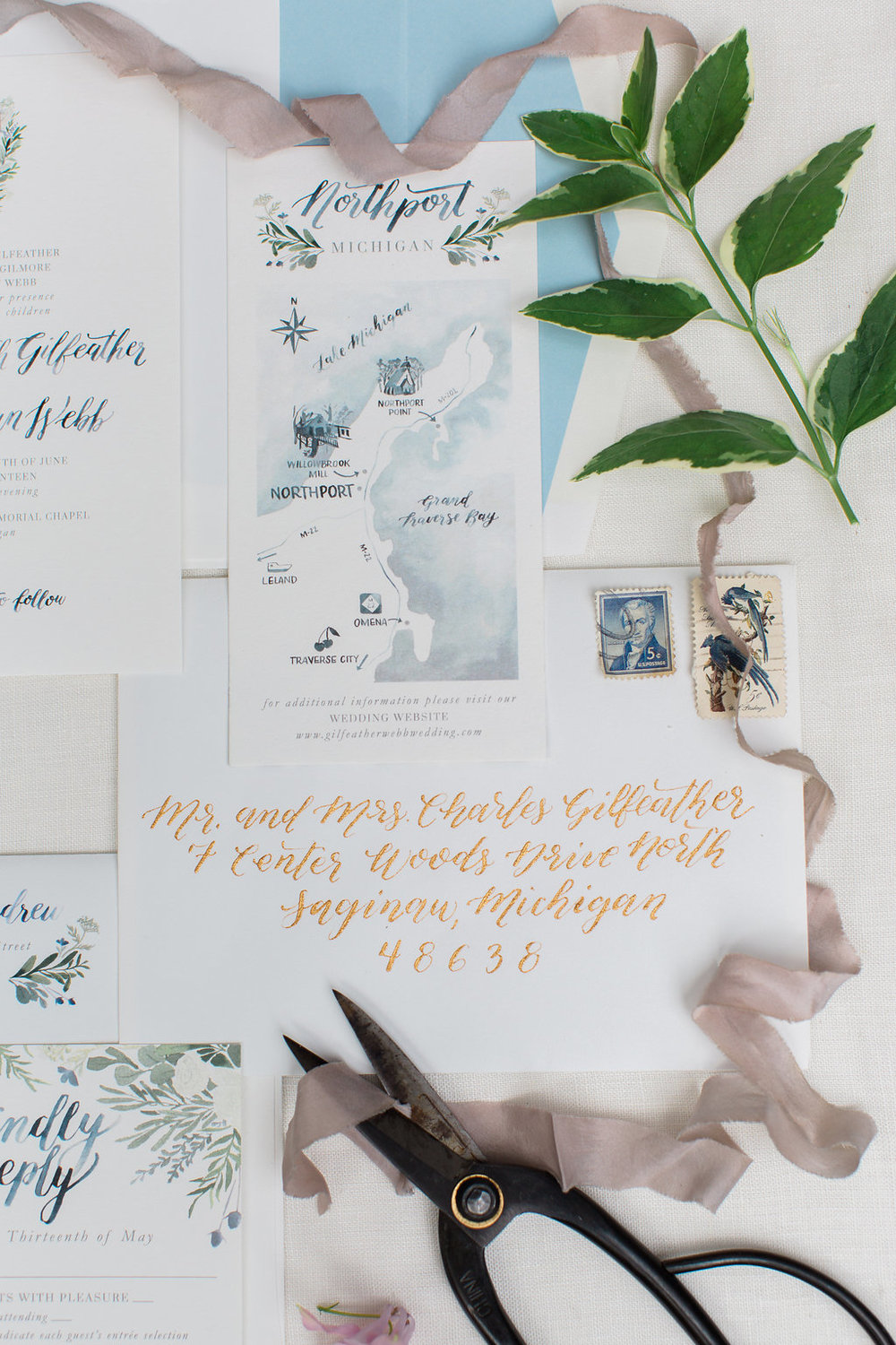 Custom Wedding Invitation Suite by Sable and Gray