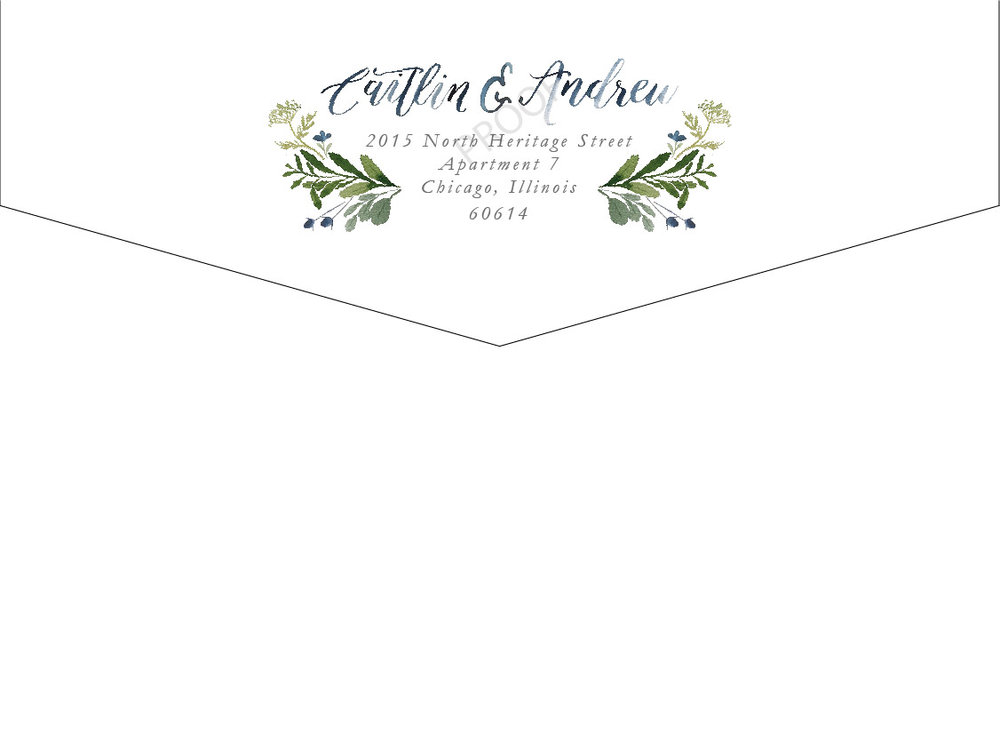 Invitation Envelope - Back